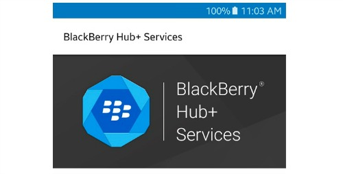 BlackBerry-Hub+ services