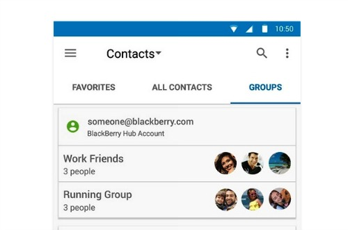Gérez vos contacts avec l'application Blackberry Hub