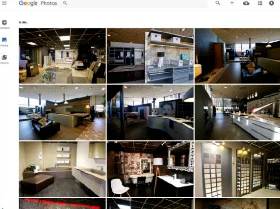 Par défaut, la version web de Google photos