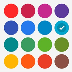 palette de couleur appli blackberry hub