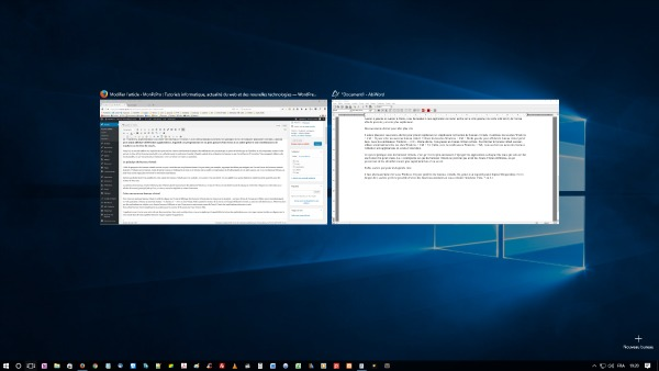 Les bueaux virtuels de Windows 10