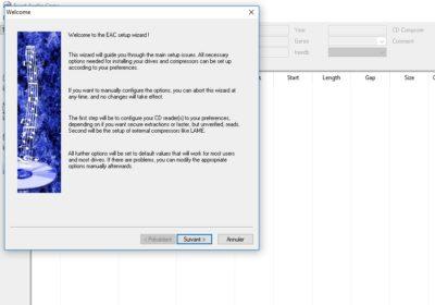 Interface de Exact Audio Copy