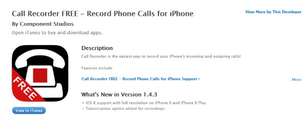 app call recorder free iOS