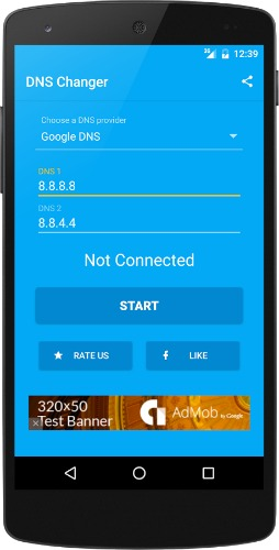 Logo application Android DNS changer