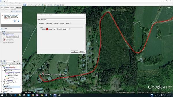 Google Earth-Créer un trajet