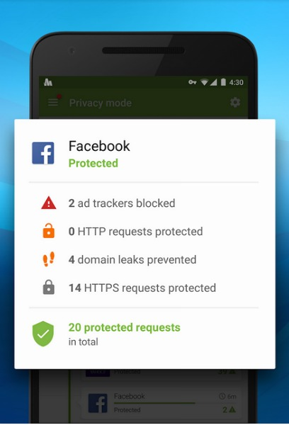 opera max facebook protecter