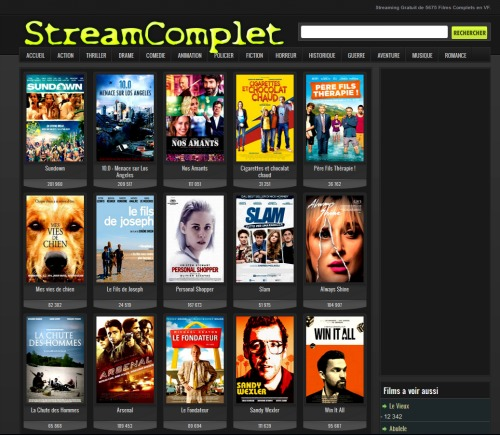 stream de films sur Internet