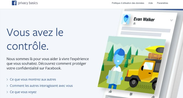 Le nouvel assistant de confidentialité Facebook