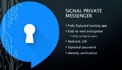 Signal private messenger - sécurité et données privées
