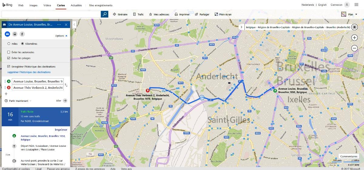 tracer itinéraire sur carte routière Bing Cartes : Profitez des richesses de l'outil de cartographie de