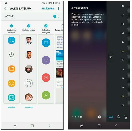 Configurer les volets latéraux du Galaxy S8
