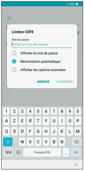 Entrez le mode de passe de votre box pour accéder à sa connexion Wi-Fi