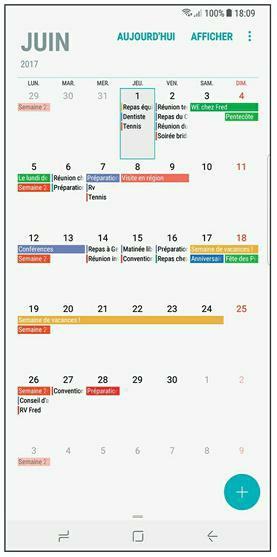 Partager Calendrier Gmail.Samsung Galaxy S8 Organiser Et Synchroniser L Agenda Ou