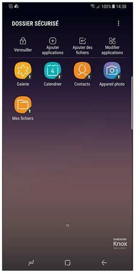 Le dossier sécurisé du Samsung Galaxy S8