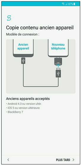 Restaurer un ancien appareil avec la fonction Smart Switch