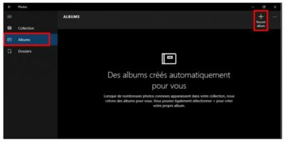 Créer-un-album photos windows 10