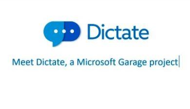 Image de l'application Dictate de Microsoft
