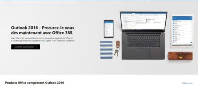 Image d'outlook 2016