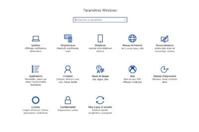 rubrique jeux dans les paramètres de Windows
