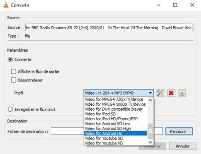 Convertir un fichier audio ou vidéo