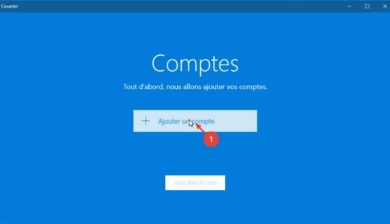 Application Courrier dans Windows 10