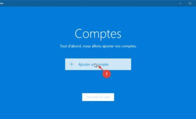 Application Courrier dans Windows 10