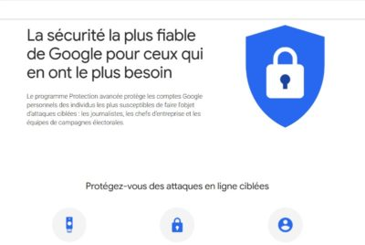 Protection avancée de comptes Google