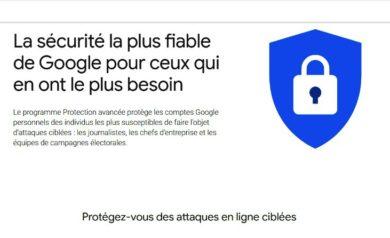 Protection avancée de comptes Google pour image à la une