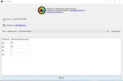 Restauration de format de fichiers