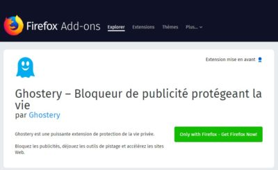 Ghostery addon pour firefox
