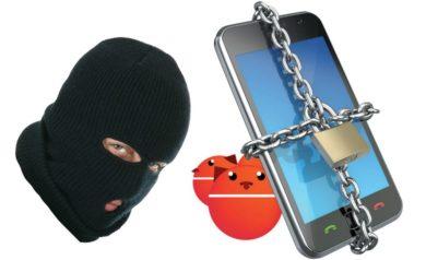 homme cagoulé et un smartphone cadenassé pour illustrer la sécurité sur android