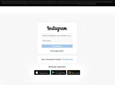 copie d'écran du réseau social Instagram