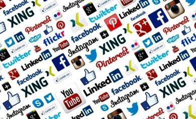 image représentant les logos des réseaux sociaux