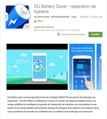 Application android DU Battery Saver