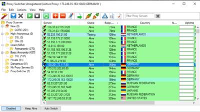 Connexion avec Proxy Switcher