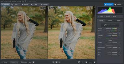 Corriger les problèmes d'éclairage avec le logiciel Photoworks