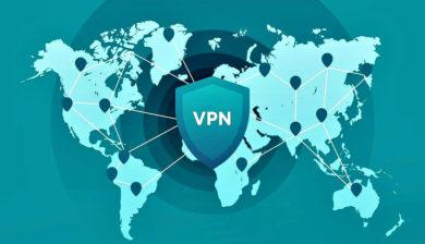 Inscription du sigle VPN sur la carte du monde