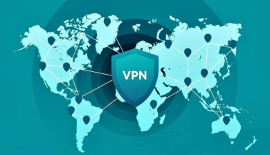 Inscription du sigle VPN sur la carte du monde